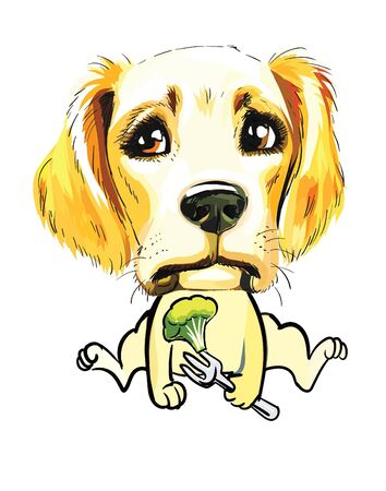 Dog character little puppy dog ??illustration cute puppy