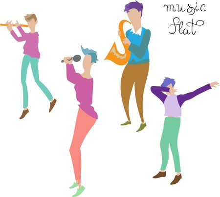 musicians flat illustration illustration