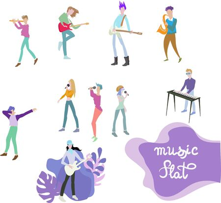 musicians illustration print design template