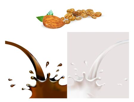 milk splashes isolated illustration vector