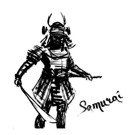 samurai illustration concept character print Illusztráció