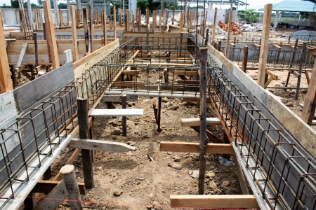 Wooden formwork for concrete at construction site Stock Photo - 16063061