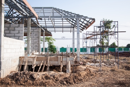 home under construction  Stock Photo - 16043212