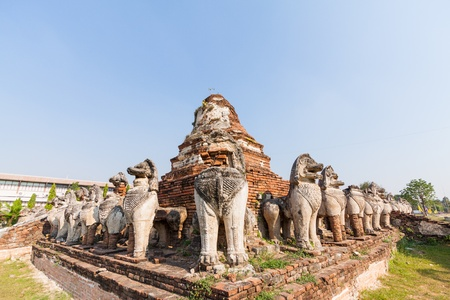 Wat Thammikarat in Ayutthaya, Thailand  photo