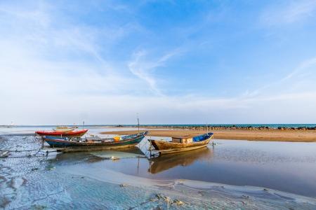 muck: Fishing boat on the muck beach
