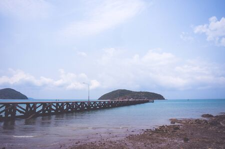 sea scape: vintage sea scape Stock Photo