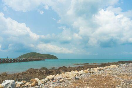 sea scape: sea scape and island