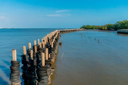 river scape: river side scape with pier