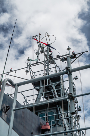 mast: a mast of navy ship