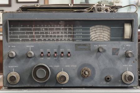 receiver: antique military radio receiver;