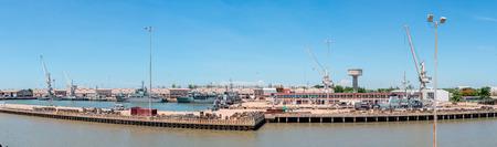 naval: Panorama Naval dockyard,use for maintenance a ship