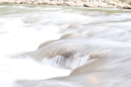 Water flow in rocky river