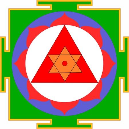 tantra: Shri Ganesha-Yantra Illustration