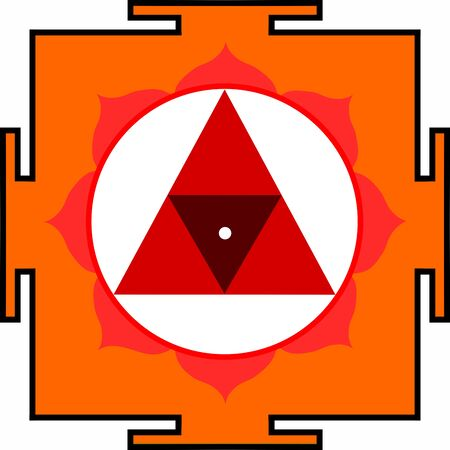 Sacred Yantra of Shrimati Chinnamasta Stock Vector - 13565294