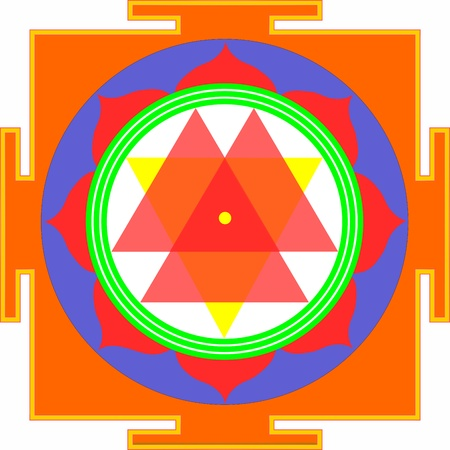 shri: Sacred Yantra of Mother Durga Illustration