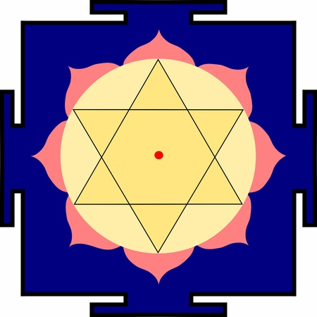 krishna: Yantra van Bhagavan Shri Krishna Stock Illustratie