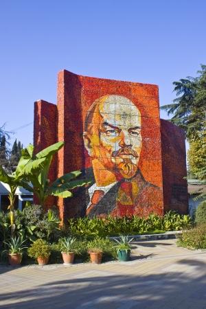 Mosaic portrait of Vladimir Lenin in Sochi
