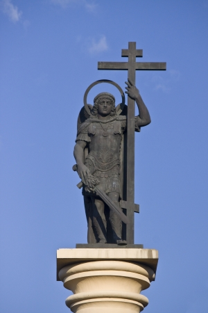 mikhail: Sculpture of Archangel Mikhail in Sochi city center