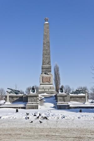 obelisc: Monument of Red Army Taman division in Slavyansk-on-Kuban, Krasnodar region
