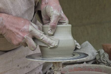 The clay transforms to the pot