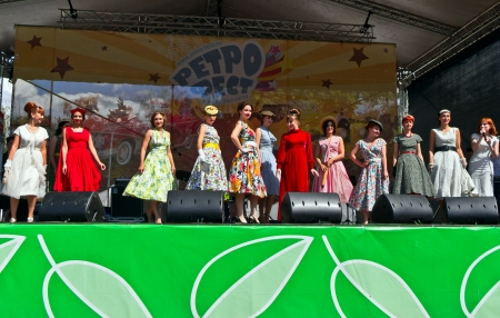 Festival Retrofest. 1950th Fashion show Stock Photo - 14612195
