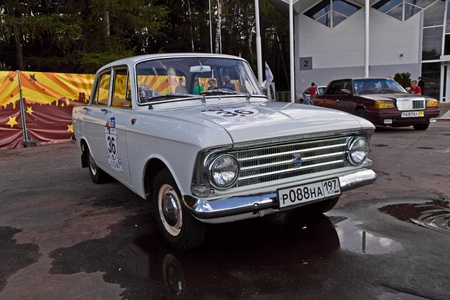 July 21, 2012 - Moscow, park Sokolniki - Festival Retrofest. Retro car show. Moskvich-408, production of Izhevsk car factory Stock Photo - 14612198