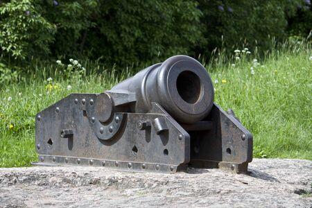 vyborg: Vyborg  Old cannon Stock Photo