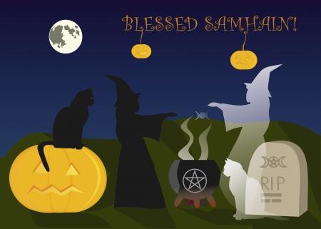 Samhain and immortal fruendship Stock Vector - 15649639