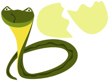 Cute newborn snake, symbol of 2013 Stock Vector - 15778022