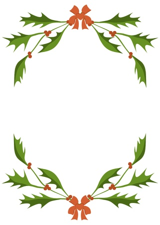 Frame of a holly branches Stock Vector - 15928783