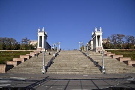 volgograd: Monumental stairs at Volgograd embankment