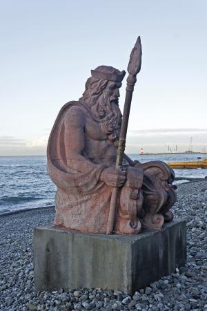 Sea god Neptune at the sea shore in Sochi, South Russia