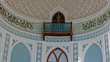 Balcone in stile moresco in palazzo Vorontsov, Alupka, Crimea