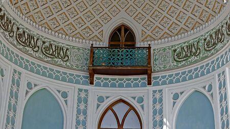 alupka: Moorish-styled balcony in Vorontsov palace, Alupka, Crimea Editorial