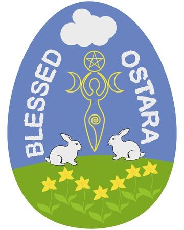 Ostara, or Wiccan Spring Equinox Sabbath egg Stock Vector - 18248660