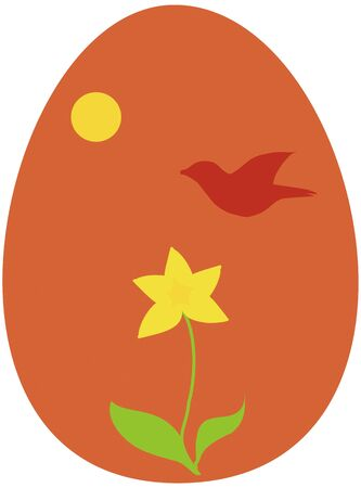 Christian Easter or Wiccan Ostara egg Stock Vector - 18276132