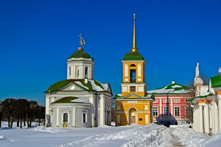 snowbank: Church in Kuskovo