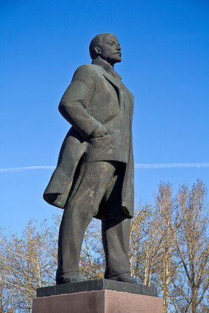 Monument of Vladimir Lenin in the town Odintsovo, Moscow area