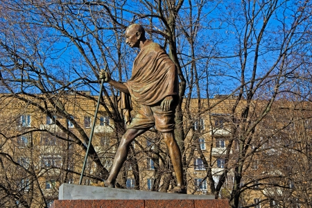 mahatma: Monument of Mohandas Karamchand (Mahatma) Gandhi in Moscow