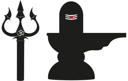 hindu god: S�mbolos sagrados del dios hind� Shiva: el tridente o Trishul y Lingam