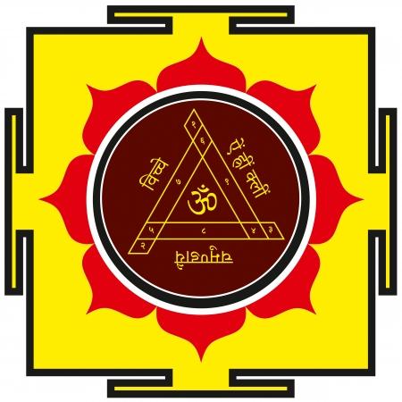 Sacred protective Shakti-Bisa yantra Stock Vector - 24536598