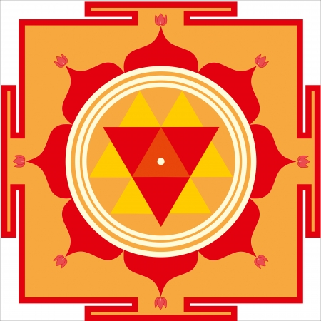 Sacred yantra of Shrimati Durga Devi Stock Vector - 24536603