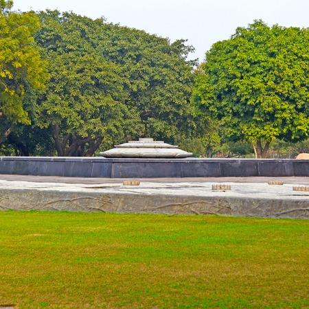 New Delhi, India. Vir Bhumi (Land of Hero) memorial on place of Rajiv Gandhi cremation.
