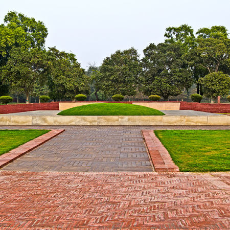 New Delhi, India. Shanti Vani (Forest of Peace) memorial on place of Jawaharlal Nehru cremation.  Editorial