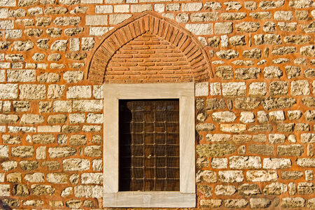 Grilled window of ancient mosque in the central part of istanbul, Sultanahmet area