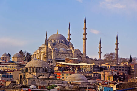 architector: Mosque Suleymanie in Istanbul, built by famous medieval architector Sinan Stock Photo