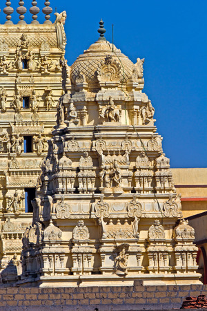 vishnu: Gopuram of Shri Balaji or Venkateshwar, form of Lord Vishnu, in Somnath