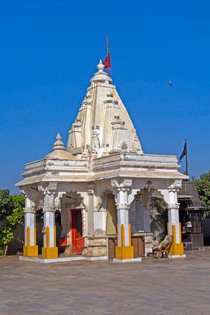 shakti: Porbandar. Hindu temple of Mother Durga Editorial