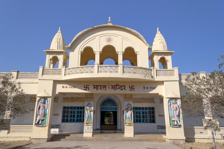 omkara: JANUARY 30, 2014, PORBANDAR, GUJARAT - Bharat Mandir or Temple of India. Bharat Mandir is the famous sight in Porbandar, this temple dedicated to country India and famous Indians.