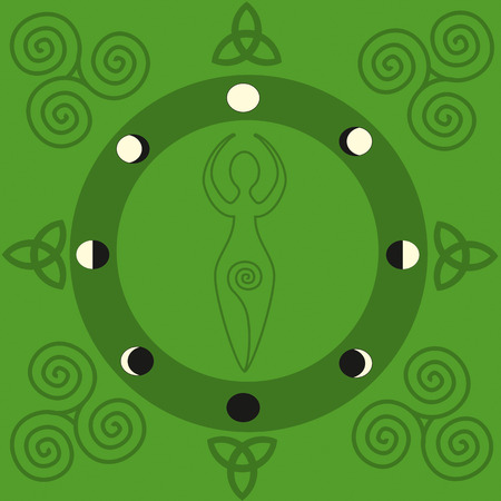 wiccan: The Spiral Goddess in Beltaine